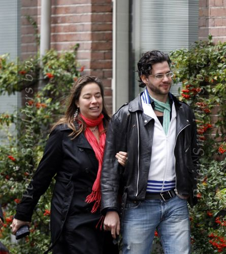 Erik Dijkstra with kind, Girlfriend Hester van Dijk
